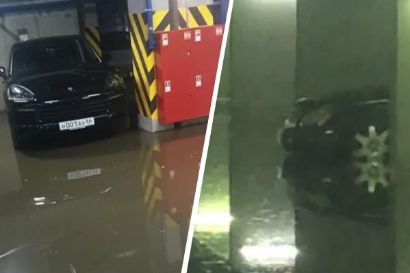В Екатеринбурге затопило паркинги