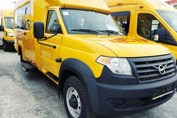 В основном для школ покупают автобусы ПАЗ и ГАЗ. УАЗ, особенно такой, в Омской области редкость