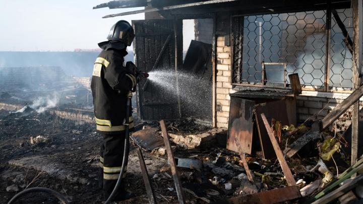 Огонь пришел со стороны пруда: в Волгоградской области степной пожар перекинулся на хутор