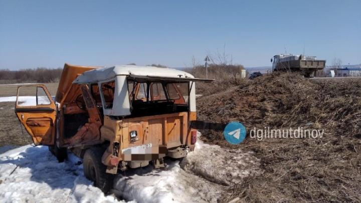 «Не убедился в безопасности маневра»: в Башкирии 83-летний пенсионер погиб в аварии с грузовиком