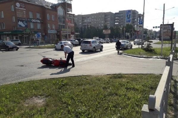 Мотоциклист умер на месте