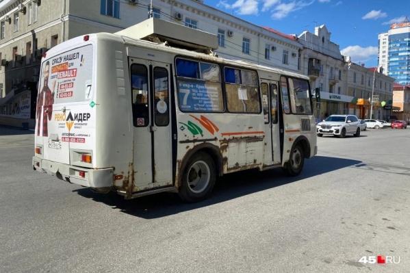 Основную часть автобусного автопарка Кургана составляют ПАЗы