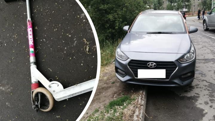 В Екатеринбурге водитель Hyundai сбил 10-летнюю девочку на самокате