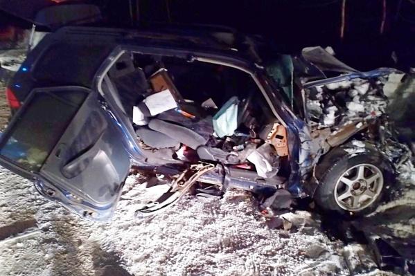 Так после столкновения выглядела машина, в которой погиб мужчина