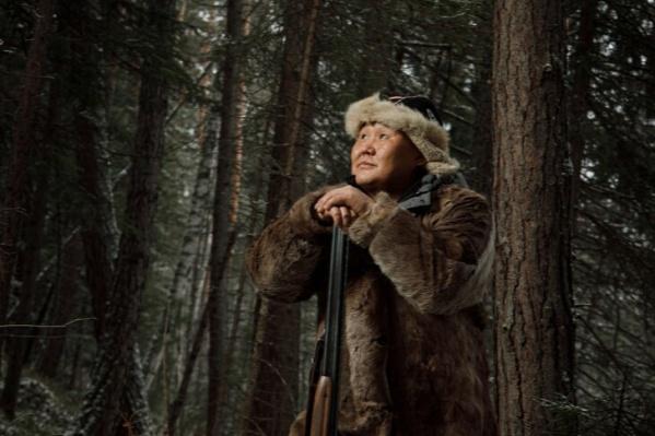 Житель Эвенкии на охоте