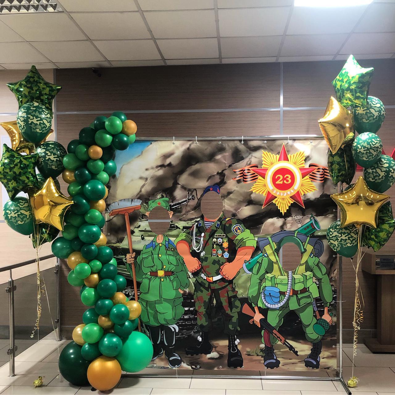 Офис оформили в традиционной праздничной тематике