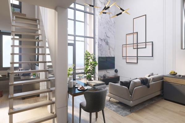 Высота потолков в квартирах от «Атомстройкомплекса» — до 6 метров