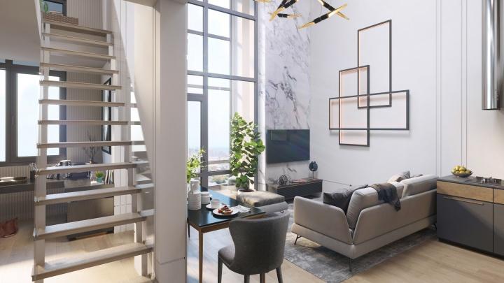 Потолки высотой до 6 метров: в Екатеринбурге поступили в продажу суперпросторные квартиры