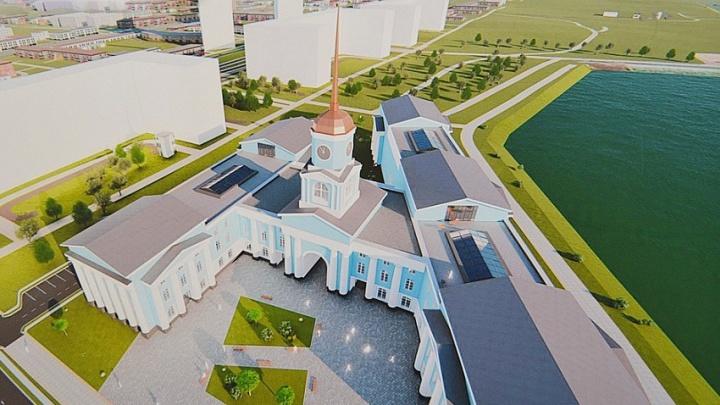 Депутаты отрезали часть территории парка в Академическом ради здания для чиновников