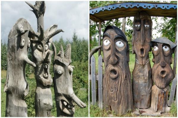 У всех скульптур один автор — местный житель Егор Утробин