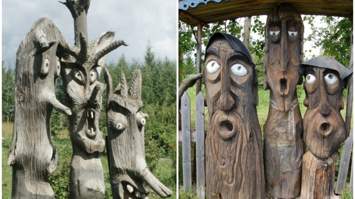 Деревянные скульптуры из прикамской деревни Пармайлово включили в список самых необычных арт-объектов России