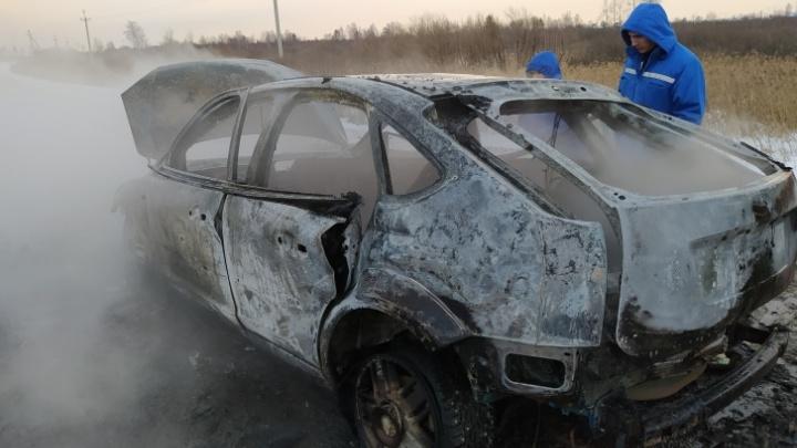 Следователи закрыли дело из-за смерти тюменца, сгоревшего в машине на объездной