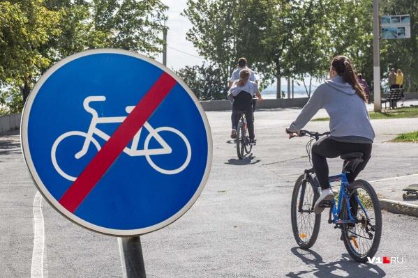 Только на рисованную велодорожку администрация Волгограда потратила 4,5 миллиона рублей