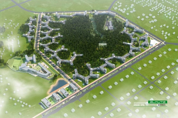 Изначально Красная горка должна была застраиваться именно так, но владельцы земли решили поменять концепцию и построить дома выше