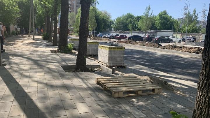 Плитка и дополнительные парковки: как изменится улица Луначарского в Самаре после ремонта