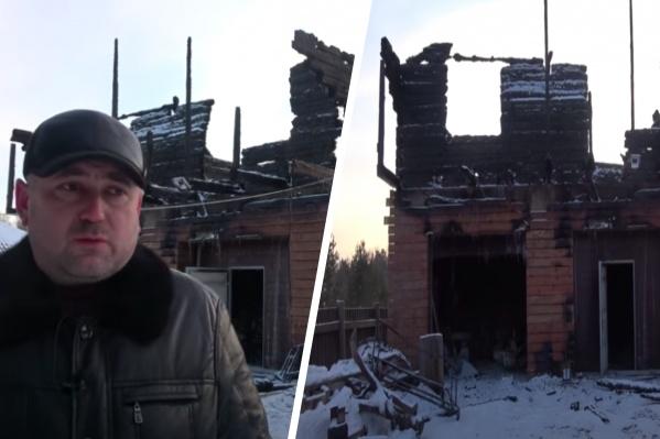 Серебряков считает, что дом подожгли