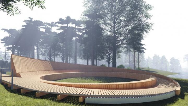 На Левобережье предложили сделать парк— спутник «Арены Омск». Посмотрите на эскизы