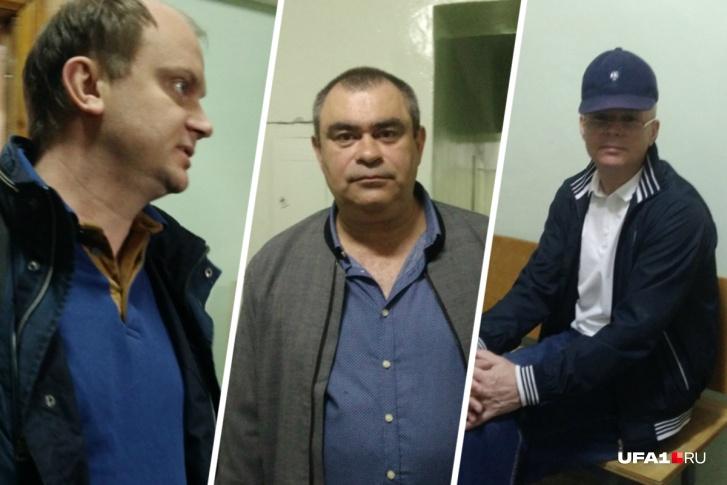 Подозреваемые Яромчук, Галиев и Матвеев (слева направо)