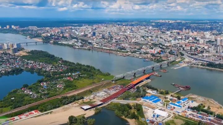Летний Новосибирск сняли с высоты — посмотрите, как выглядят Октябрьский мост, планетарий и Экспоцентр с 800 метров