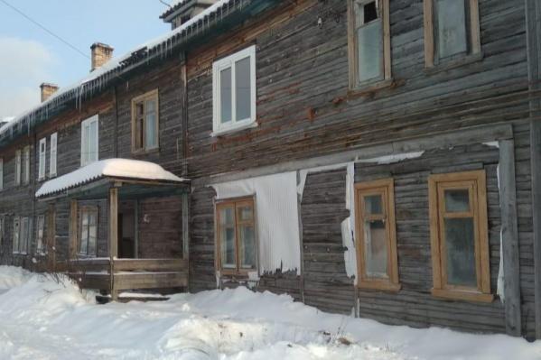 Один из домов, которые были приобретены администрацией Каргополя