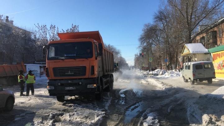 В Самаре для автомобилистов перекрыли улицу Литвинова и Зубчаниновское шоссе