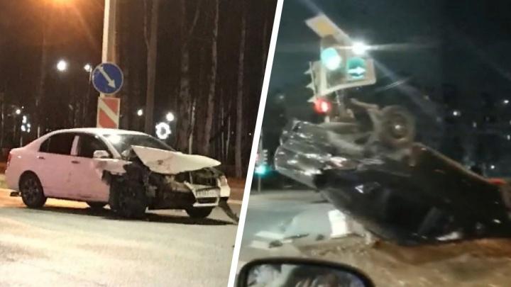 Медпомощь оказали на месте: подробности ночного ДТП с перевертышем на Ленинградском проспекте