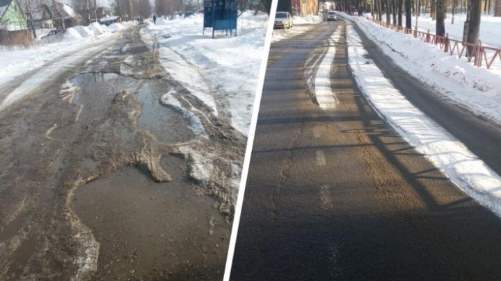 Автобусы не смогли проехать по разбитой дороге в Ярославле: власти задумались о ремонте