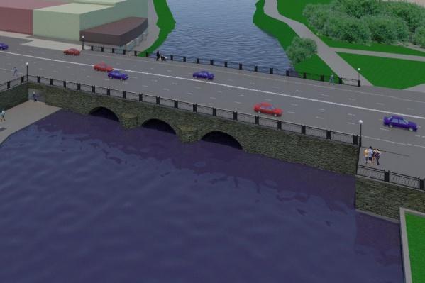 Под старинным мостом хотят сделать тоннель для пешеходов
