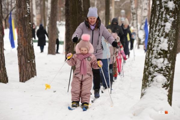 В парке Маяковского «Лыжня России» получилась очень семейной