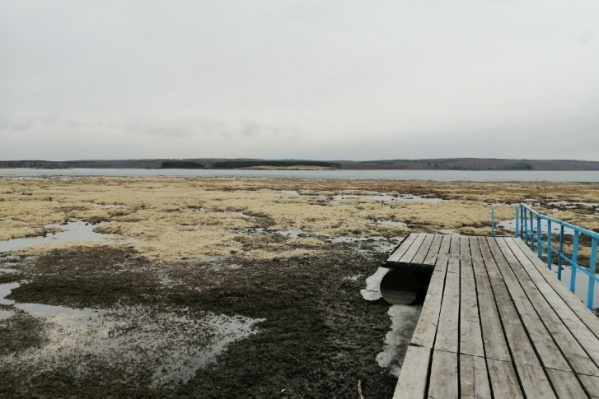 Активисты говорят, что озеро внезапно обмелело