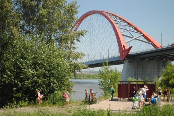 Будущее место отдыха располагается под Бугринским мостом