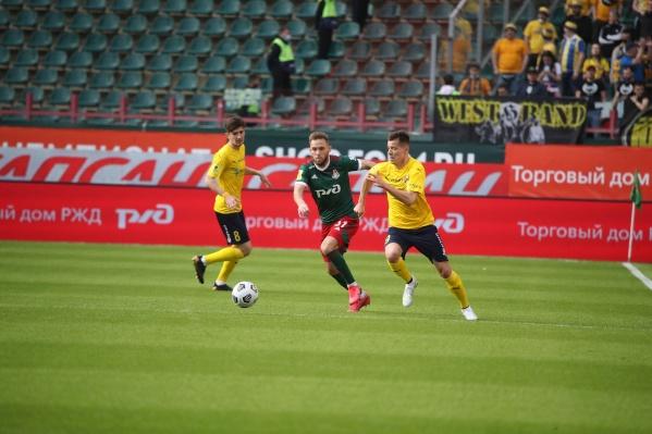 После первого тайма «Ростов» проигрывал со счетом 1:2