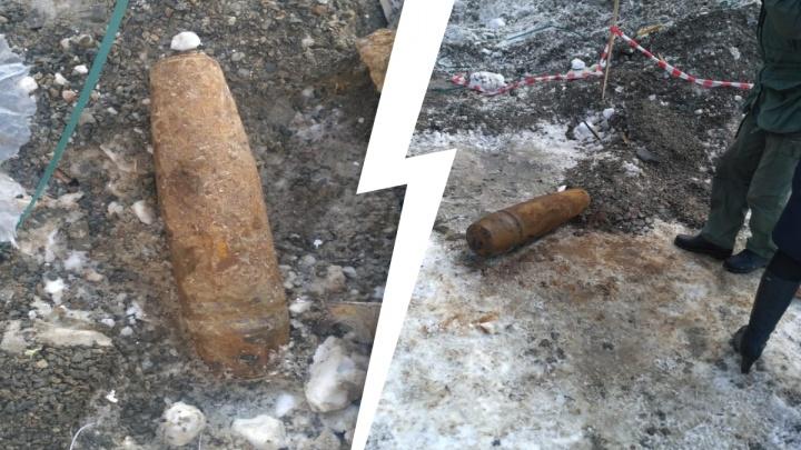 На стройке в Краснолесье нашли снаряд весом 80 килограммов