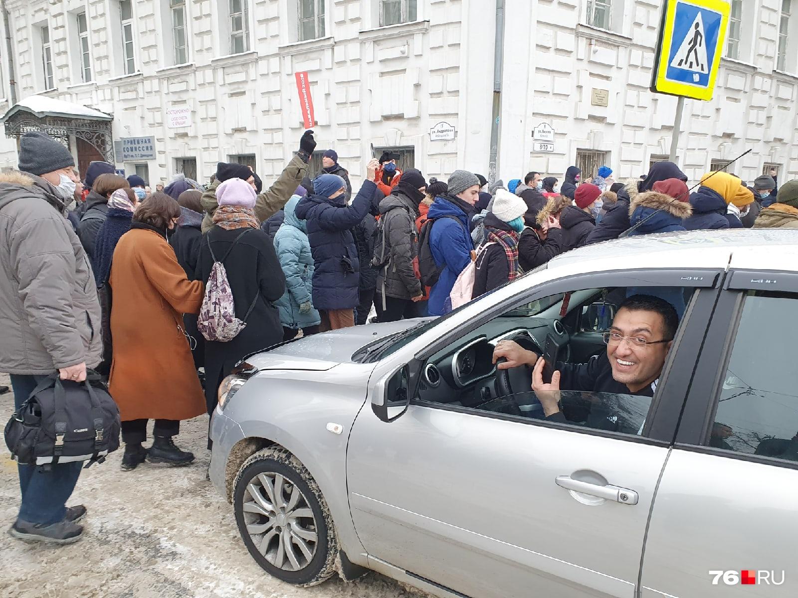 Автомобилисты с пониманием относились к участникам протеста