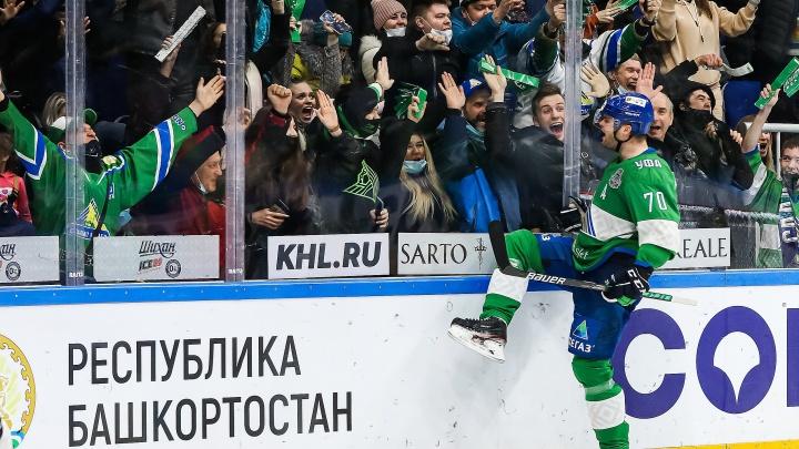 «Салават Юлаев» победил «Трактор» в овертайме и сравнял счет в серии