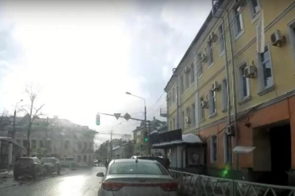 Все произошло в центре Ярославля