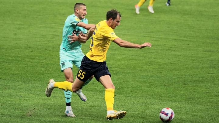 «Ростов», играя в большинстве, упустил победу над «Краснодаром»