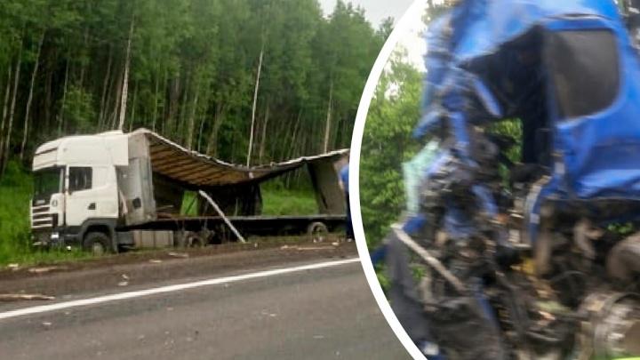 «Выехал на встречку»: на трассе в Ярославской области столкнулись три фуры