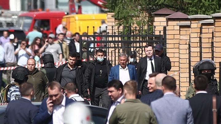 Глава Татарстана прибыл на место ЧП в казанской школе