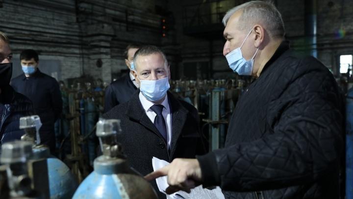 Врио губернатора Михаил Евраев обеспечит бесперебойную работу завода по производству медицинского кислорода
