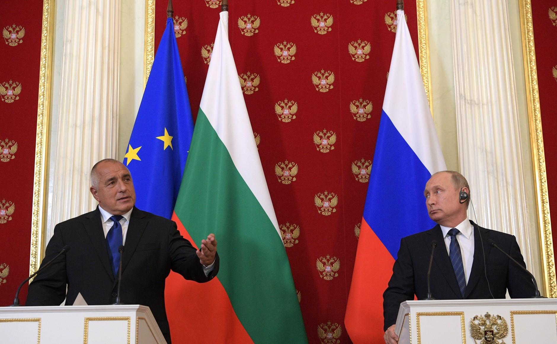 Премьер-министр Болгарии Бойко Борисов на переговорах с Владимиром Путиным, Кремль, 2018 год