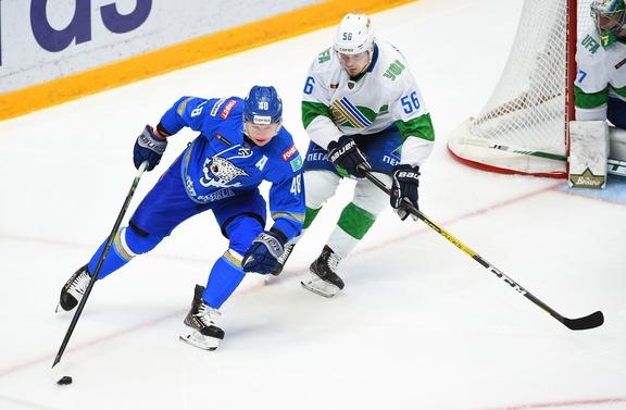 «Салават Юлаев» одержал волевую победу в выездном матче турнира КХЛ