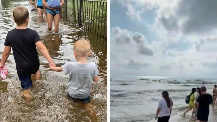 Сибирячка c двумя детьми оказалась в Анапе во время сильнейшего потопа. Она показала, как выглядит сейчас курорт
