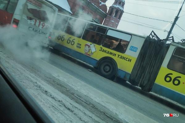 Никто из пассажиров 9-го троллейбуса не пострадал