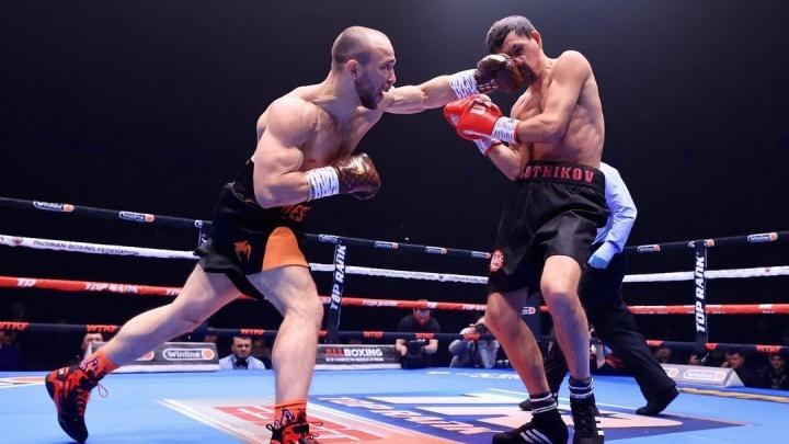 Боксер Александр Беспутин провел первый матч после лишения титула чемпиона и нокаутировал соперника