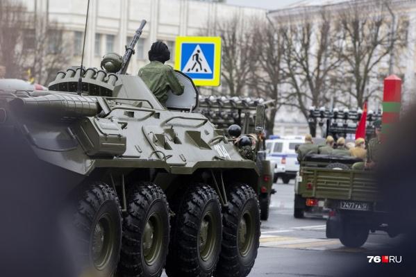 Технику демонстрировали на главной площади города