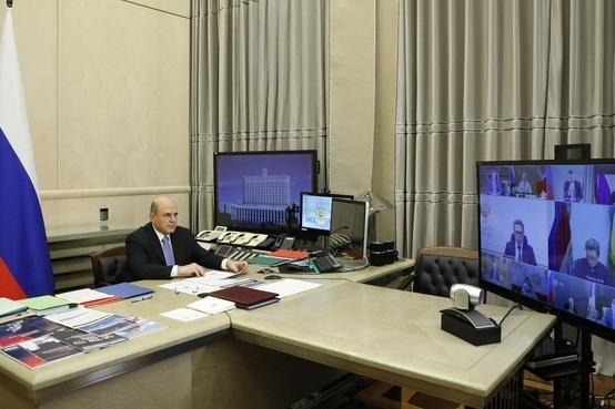 Заседание федерального оперштаба провел премьер-министр России Михаил Мишустин