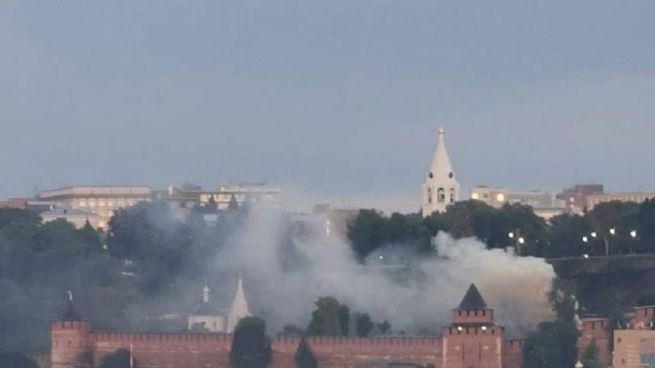 На территории Нижегородского кремля произошел пожар