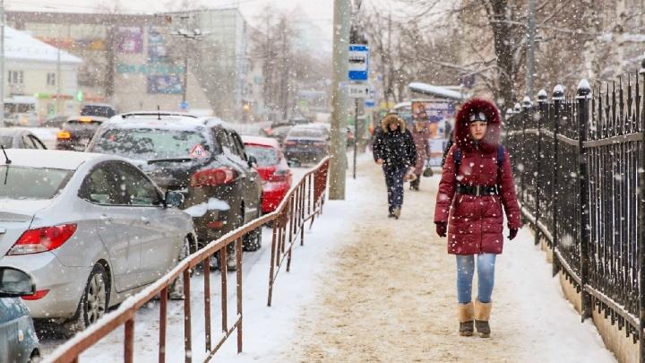 На Ярославль надвигаются снег и метель: экстренное предупреждение