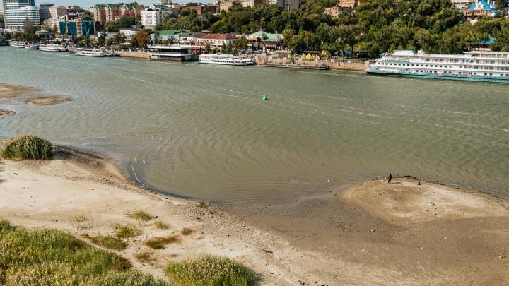 Почему обнажилось дно Дона и как выглядит обмелевшая река